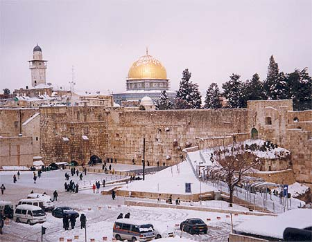 The Kotel/Al Aqsa in Snow 2008