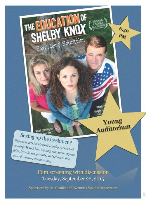 the education of shelby knox The education of shelby knox - a 15-year-old girl's transformation from conservative southern baptist to liberal christian and ardent feminist parallels her fight for sex education and gay rights in lubbock, texas.
